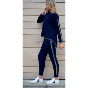 Rainbow Track Pants Navy/Rainbow