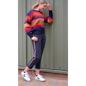 Recife Stripe Knit Jumper Red/Pink/Multi