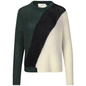 Munthe Voyage Loose Knit Jumper in Green/Black