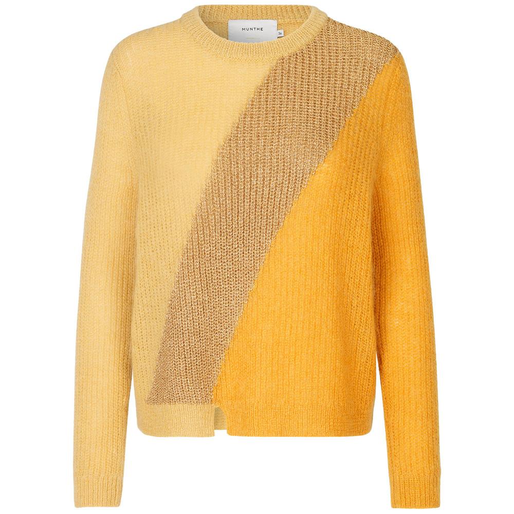 Munthe Voyage Loose Knit Jumper Yellow