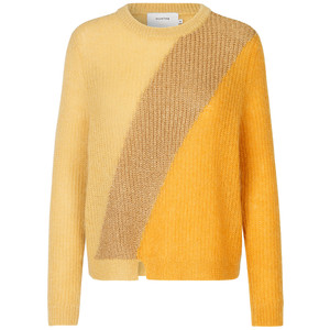 Munthe Voyage Loose Knit Jumper in Yellow