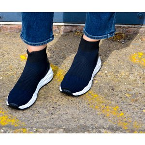 Ash Spot Knitted Trainer Midnight