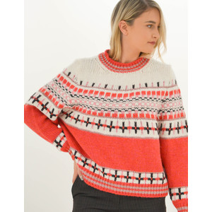 Rochers Jacquard Knit Jumper Red/Pink/Multi