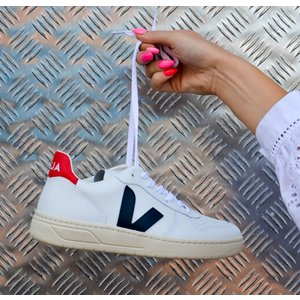 V-10 Leather Trainer Extra White Nautico Pekin White Nautico Pekin