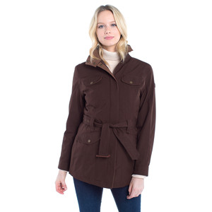 Friel Utility Jacket with Belt Coffee Bean