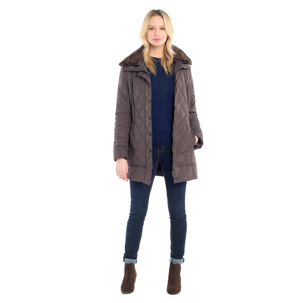 Dubarry Kenmare Quilted Jacket Smoke
