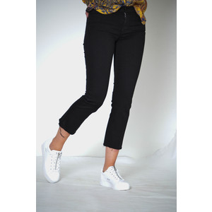 Selena Cropped Boot Raw Hem Jean Black Bastille
