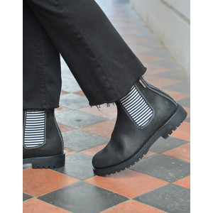 Penelope Chilvers Nelson Gaucho Leather Ankle Boots Black/Stripe