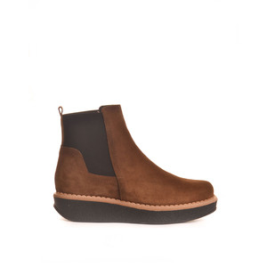 Georgia Chunky Boot with Stretch Sides Tobacco