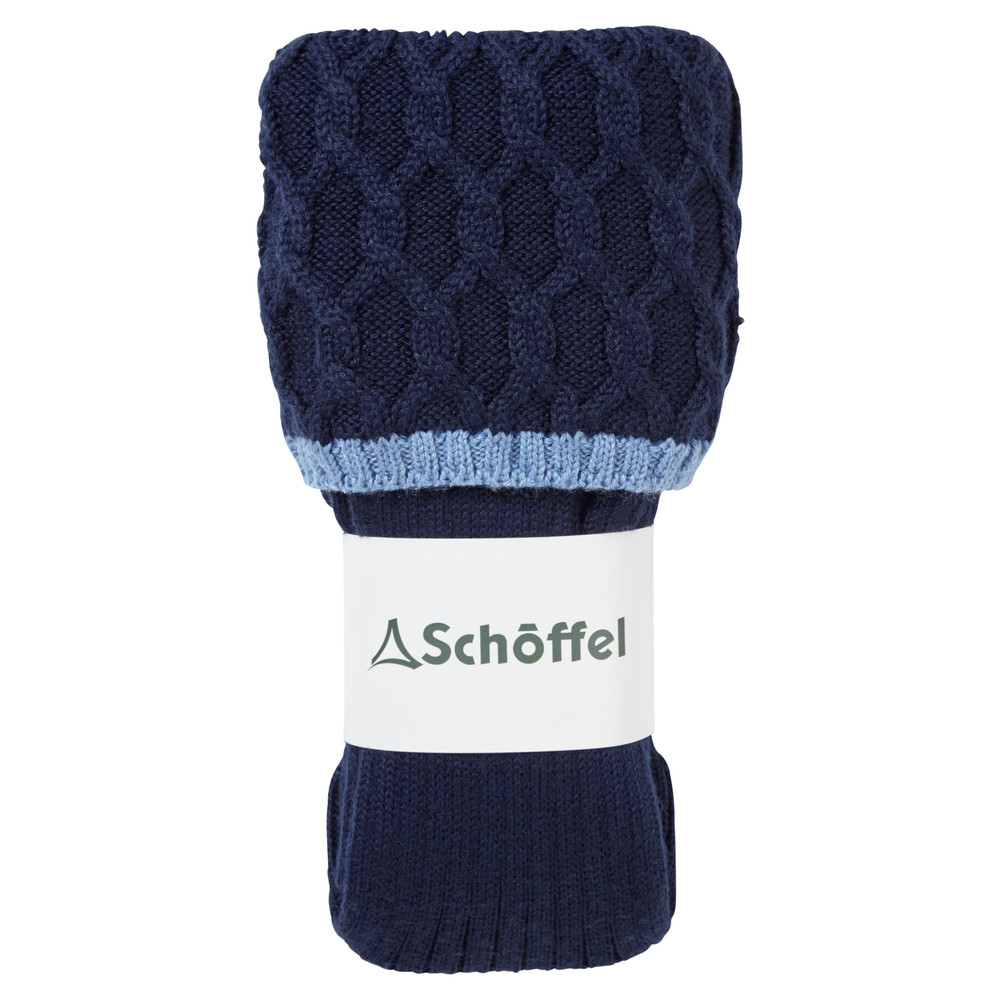 Schoffel Country Ladies Lattice Sock Navy