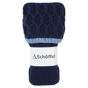 Schoffel Country Ladies Lattice Sock in Navy
