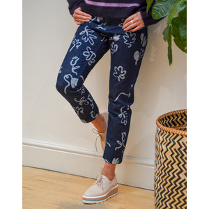 Acapulco Printed Jeans Blue