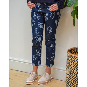 Paul Smith Womens Acapulco Printed Jeans Blue