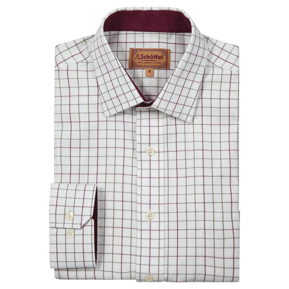 Schoffel Country Burnham Tattersal Shirt Ruby Check