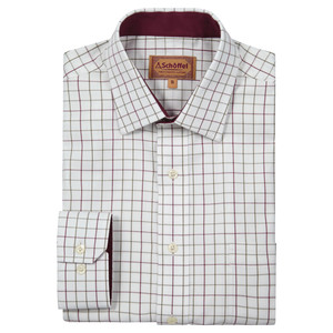 Burnham Tattersal Shirt Ruby Check
