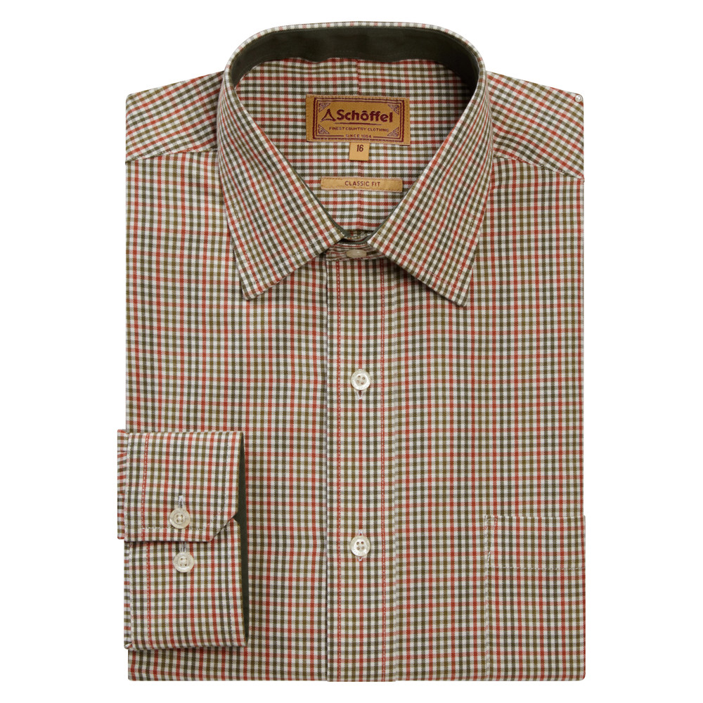Schoffel Country Burnham Tattersal Shirt Blue/Olive Check