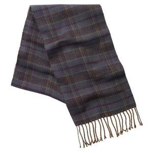 Schoffel Country Merino Check Scarf in Ochre