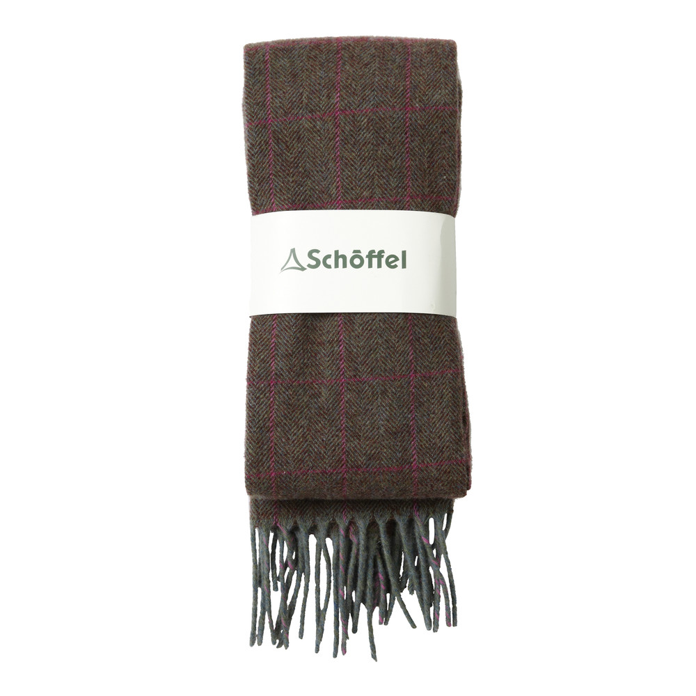 Schoffel Country House Tweed Scarf Cavell Tweed