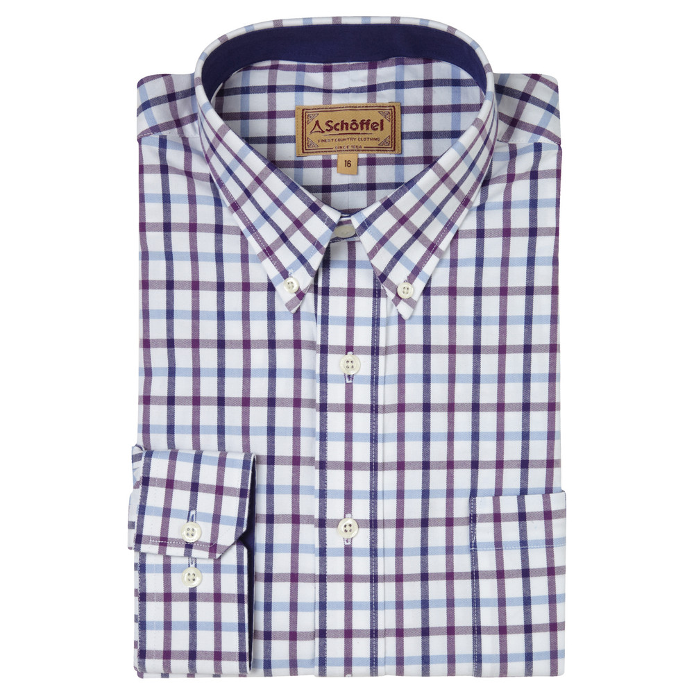 Schoffel Country Brancaster Shirt Purple