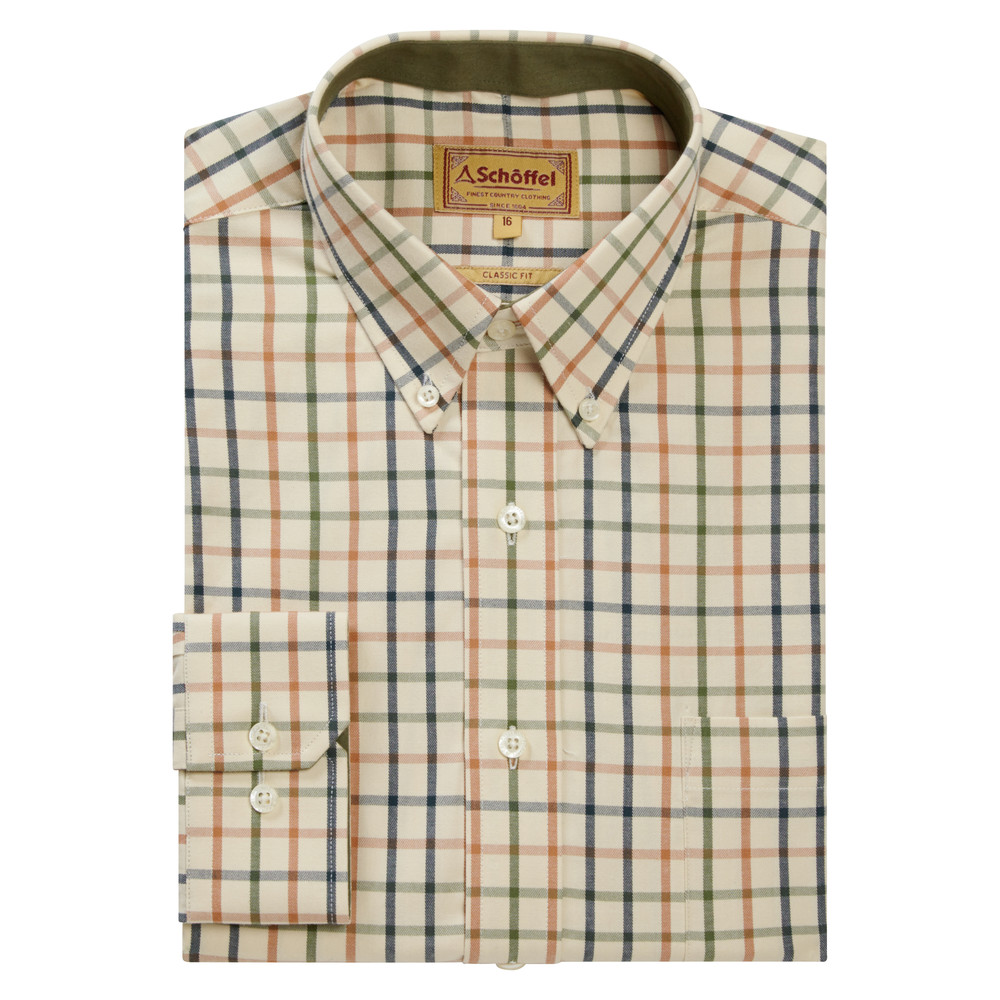 Schoffel Country Brancaster Shirt Dark Olive-Brick