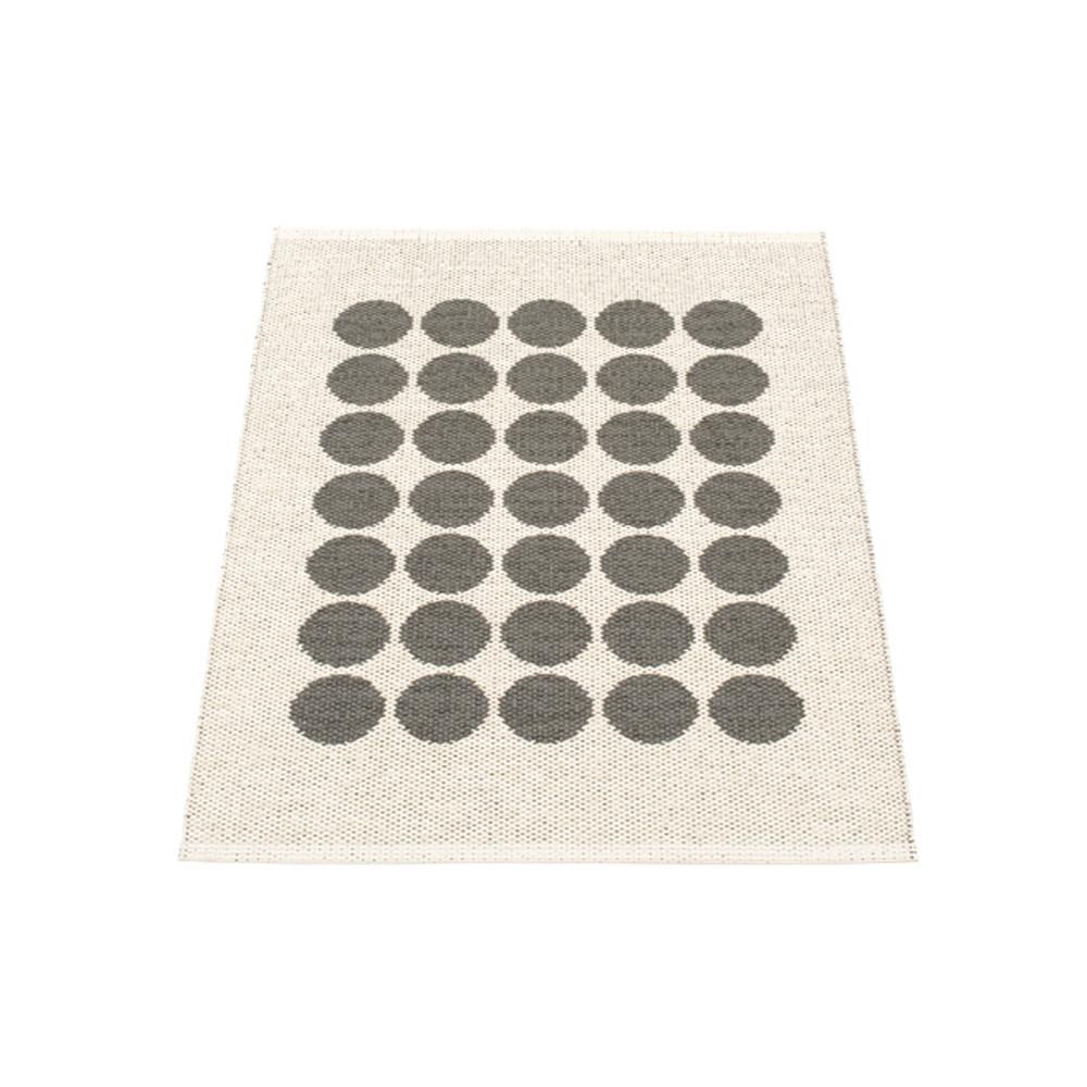 Pappelina Fia Reversible Rug Charcoal/Vanilla
