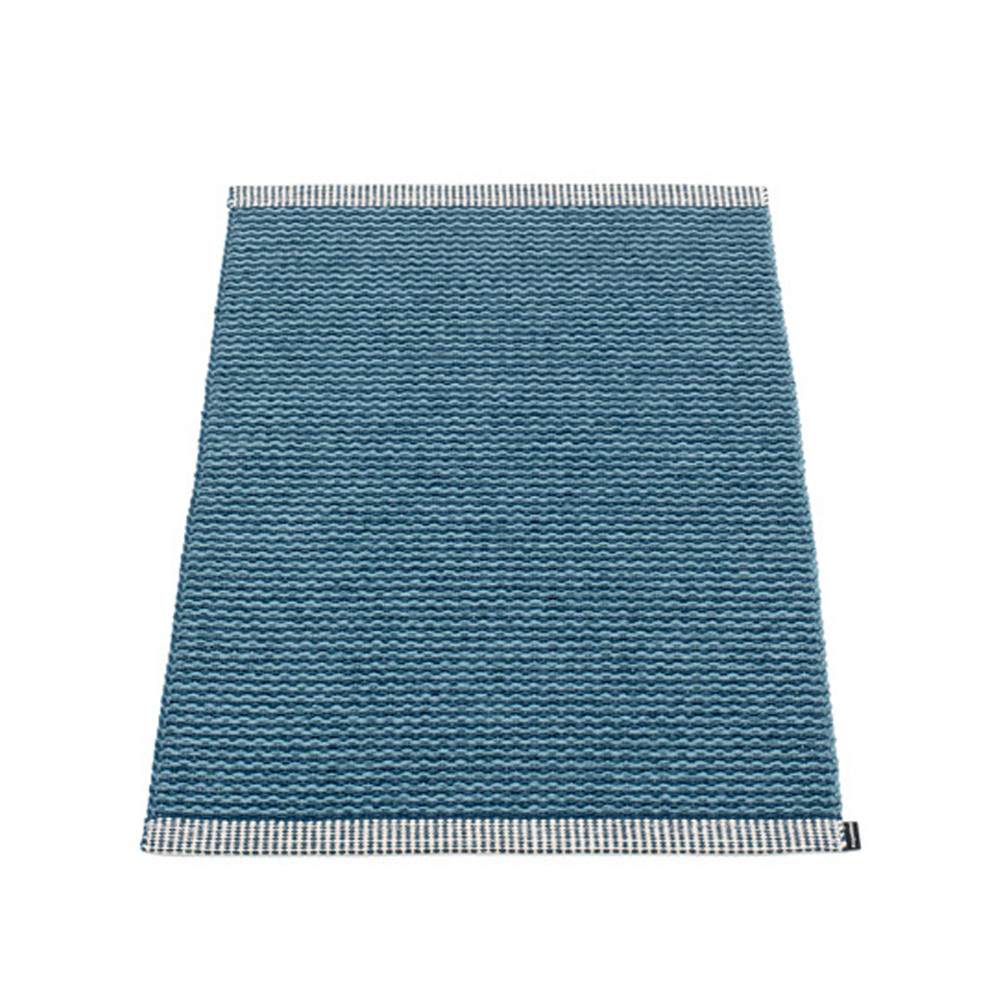 Pappelina Mono Rug Ocean Blue/Dove Blue
