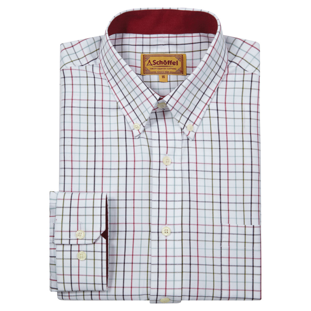 Schoffel Country Banbury Shirt Red/Green Check