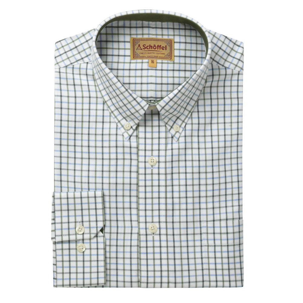 Schoffel Country Banbury Shirt Blue/Olive Check