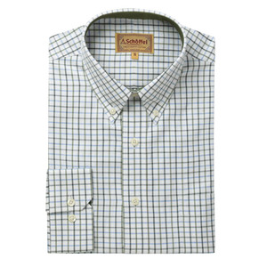 Schoffel Country Banbury Shirt in Blue/Olive Check
