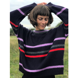 Multi Stripe Jumper Dark Navy/Multi