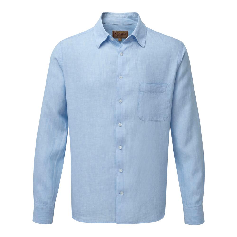Schoffel Country Thornham Shirt Linen Light Blue