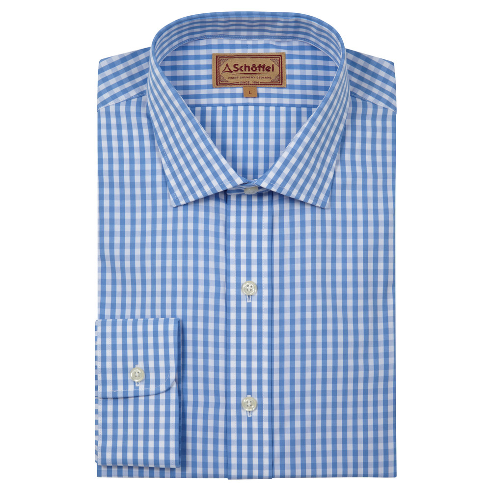 Schoffel Country Harlington Shirt Blue Gingham