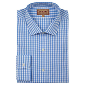Schoffel Country Harlington Shirt in Blue Gingham