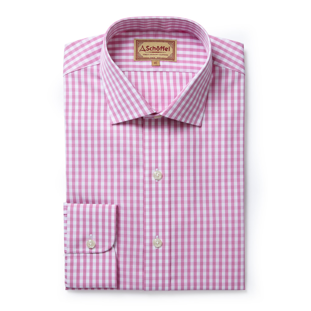 Schoffel Country Harlington Shirt Pink Gingham