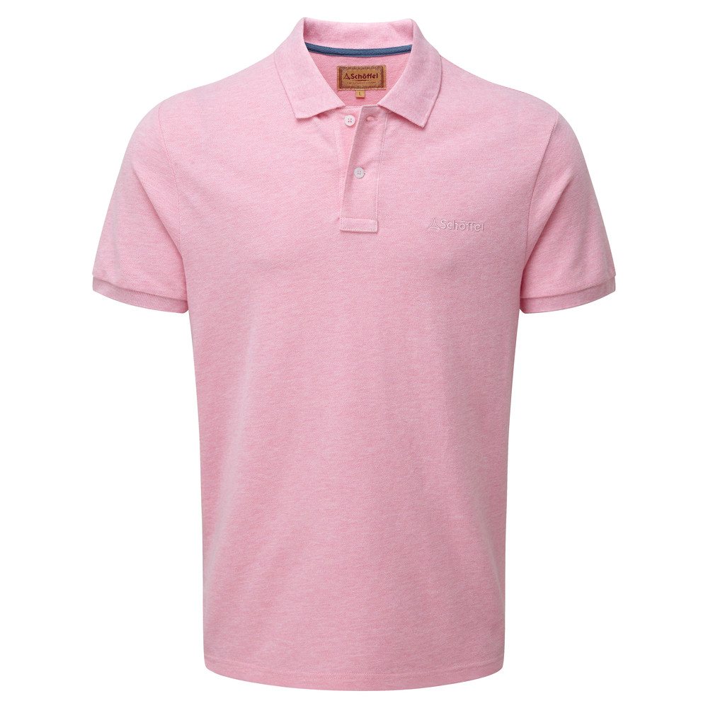 Schoffel Country Padstow Polo Shirt Pink