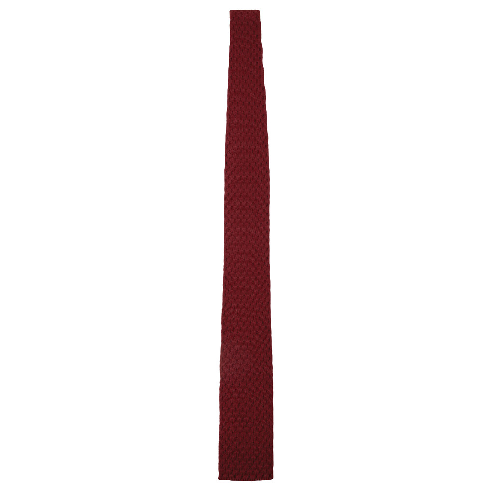 Schoffel Country Knitted Tie Aubergine