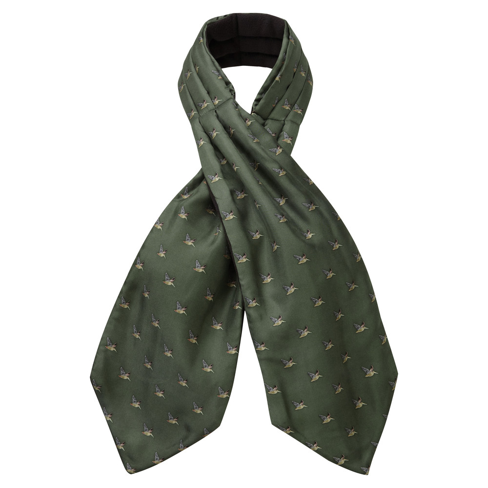 Schoffel Country Silk Shooting Cravat Dark Olive