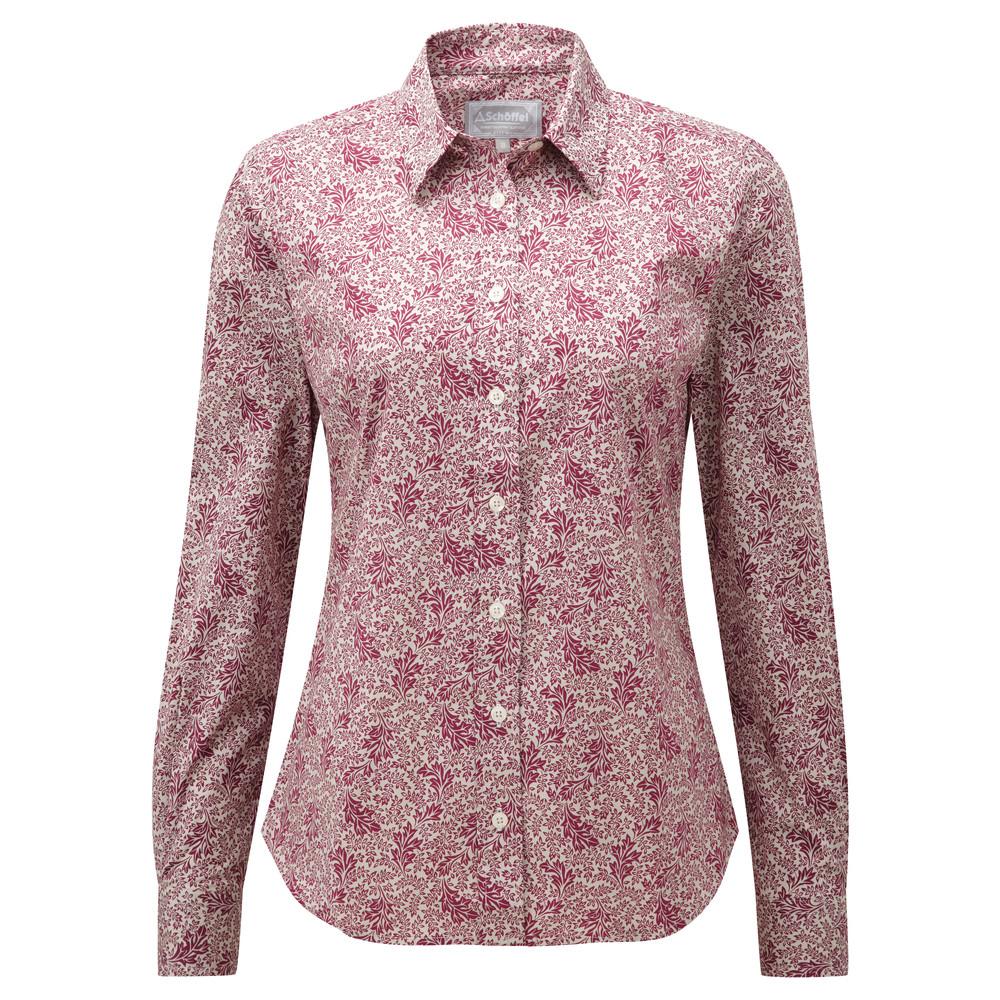 Schoffel Country Suffolk Shirt Fern Burgundy
