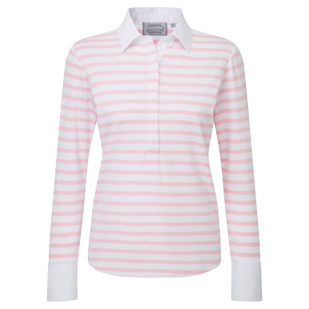 Schoffel Country Salcombe Shirt Harbour Stripe Pink